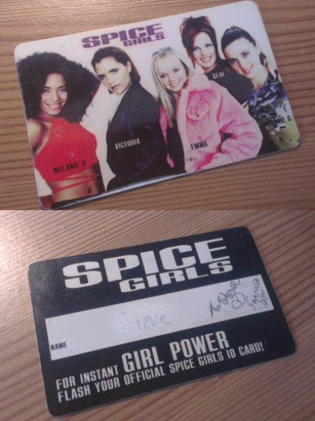 Spice Girls Membership Card