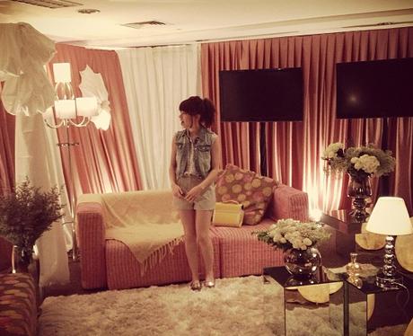 Carly Rae Jepsen in her dressing room