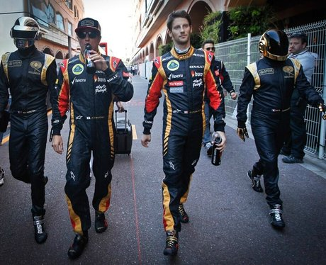 Daft Punk And Team Lotus at Monaco grand prix