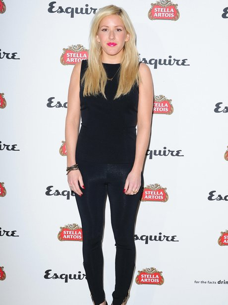 Ellie Goulding arriving at the Esquire party