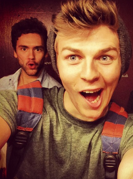 Joel Peat and Andy Brown pose for a selfie together
