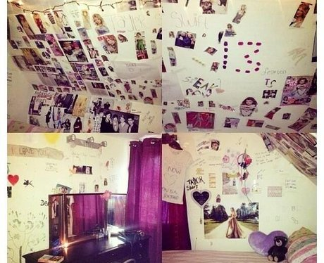 One Proud Taylor Swift Fans Shows Off Her Bedroom Shrine To The US Pop Star!