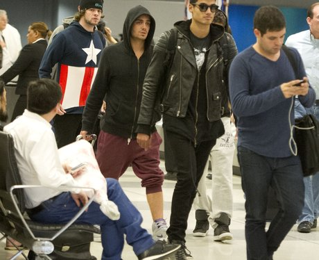 The Wanted at the airport