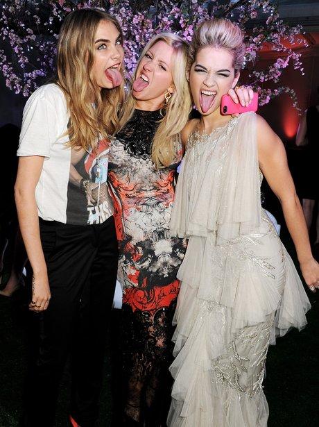 Cara Delevingne, Ellie Goulding and Rita Ora