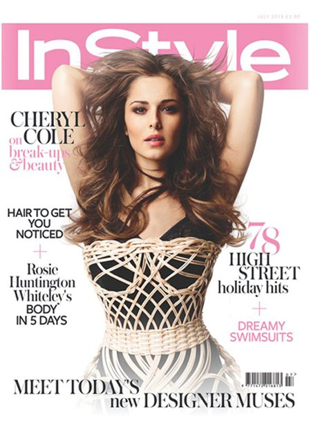 Cheryl Cole on the cover of InStyle Magazine