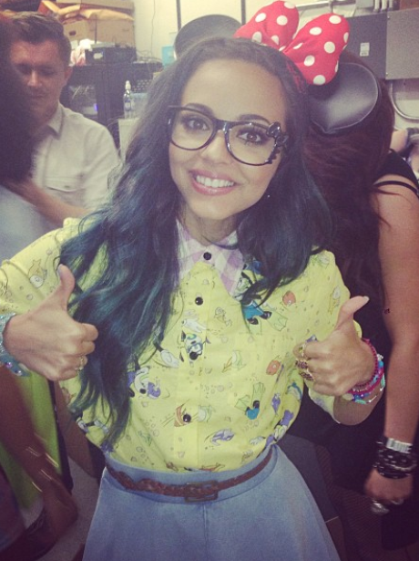 Jade Thirlwall with a bow in her hair