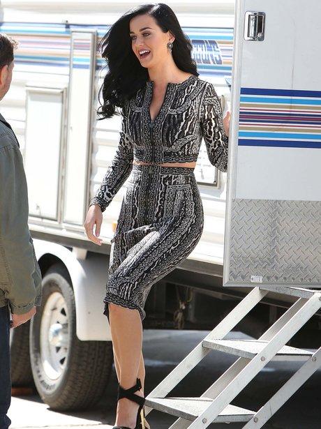 Katy Perry on set