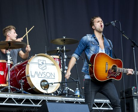 Lawson on stage