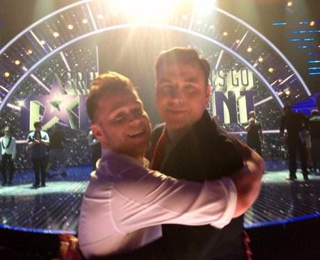 Olly Murs and David Walliams in a Twitter picture