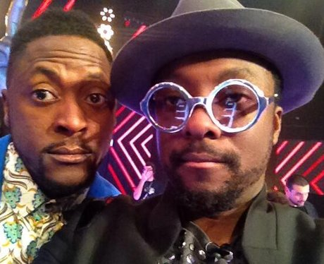 Will.i.am with The Voice contestant