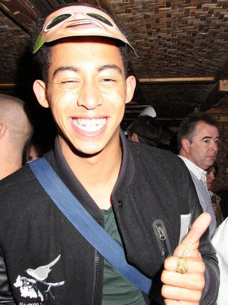 Rizzle Kicks star Jordan Stephens gives a thumbs up after the Ball