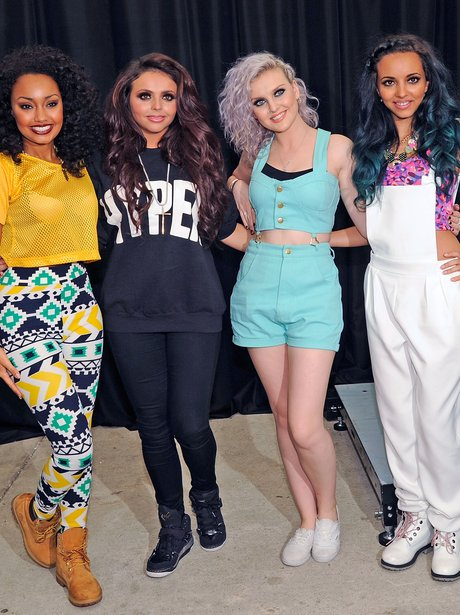 Little Mix at their debut album signing