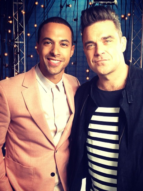 Marvin Humes and Robbie Williams