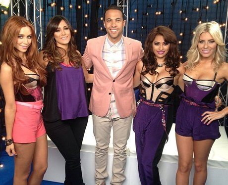 Marvin Humes with The Saturdays from Twitter