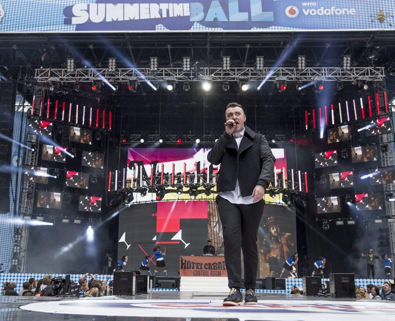 Naughty Boy and Sam Smith at the Summertime Ball 2
