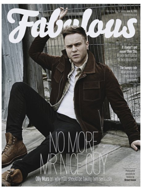 Olly Murs covers the new issue of Fabulous Magazine
