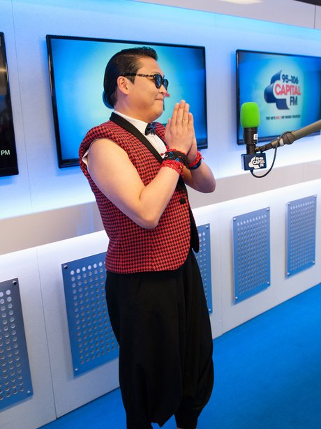 PSY backstage at the Summertime Ball 2013