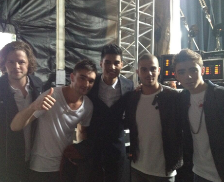 The Wanted pose together backstage at the Ball