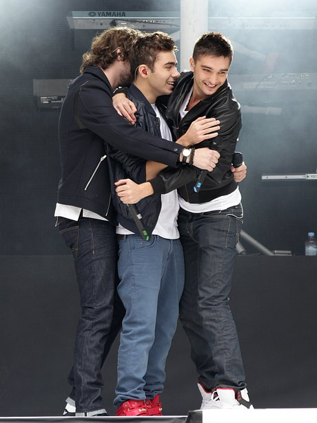 The Wanted embrace the returning Nathan Sykes at the Summertime Ball 2013