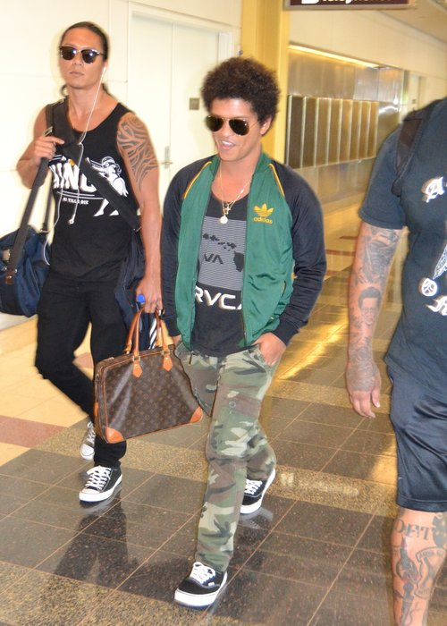 Bruno Mars Puts On Brave Face Pictured Out For First Time Since Death Of His Mother