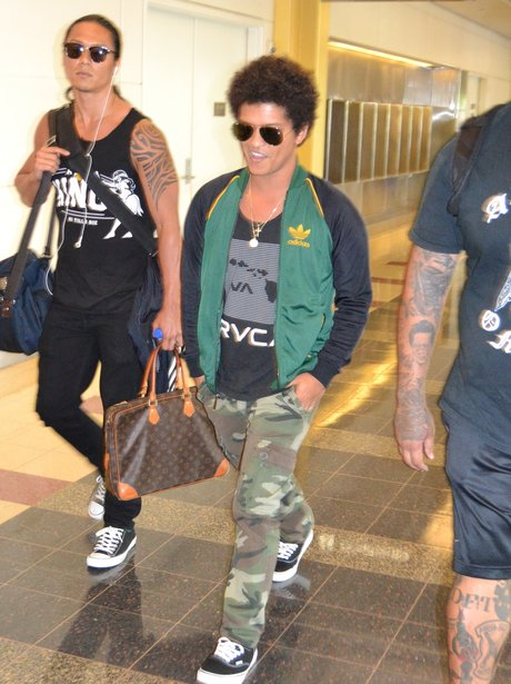 Bruno Mars at the airport