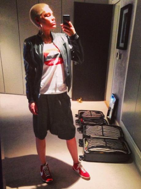 Jessie J wearing a tracksuit