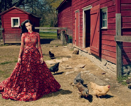 Katy Perry's Vogue US cover shoot in July 2013