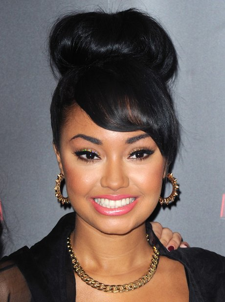 Leigh-Anne Pinnock wearing pink lipstick