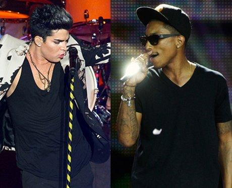 Pharrell Williams and Adam Lambert