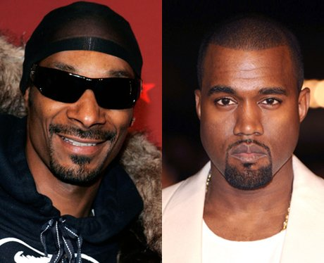 Snoop Dogg and Kanye West side by side