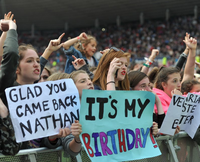 Fans of The Wanted at North East Live 2013