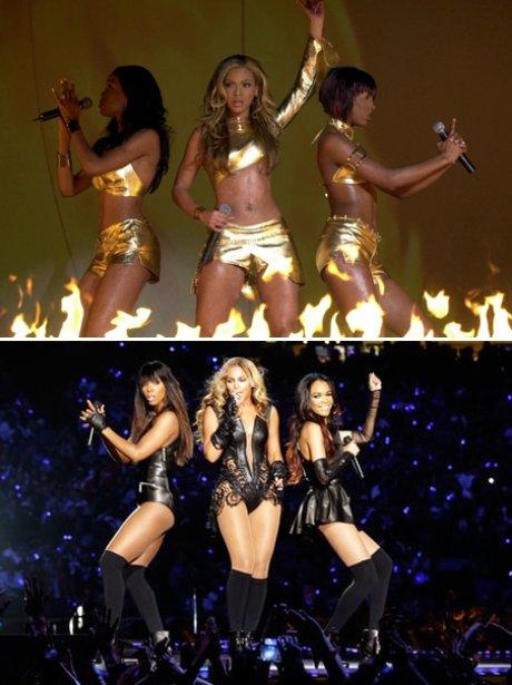 Beyonce with Destiny's Child: Then and now