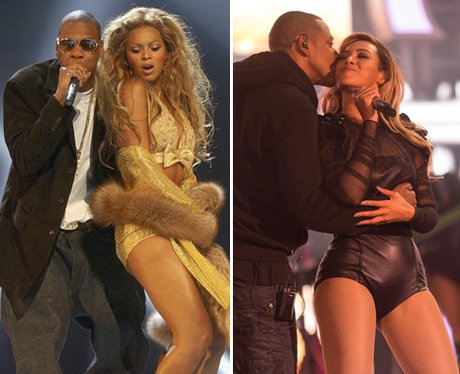 Beyonce and Jay-Z: then and now