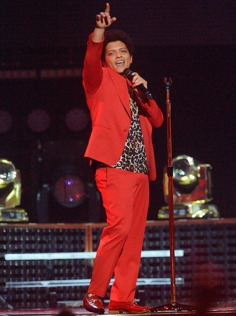 Bruno Mars performs on tour