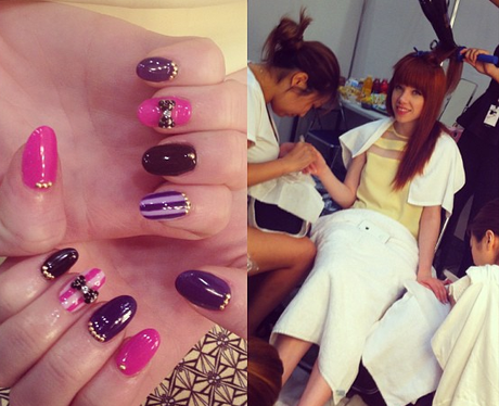 Carly Rae Jepsen gets ready for an MTV show