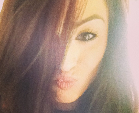 Cher Lloyd poses for a silly picture