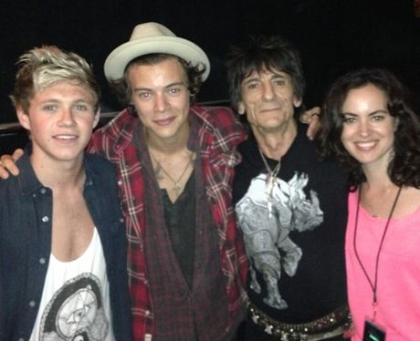 Harry Styles and Niall Horan with Ronnie Wood