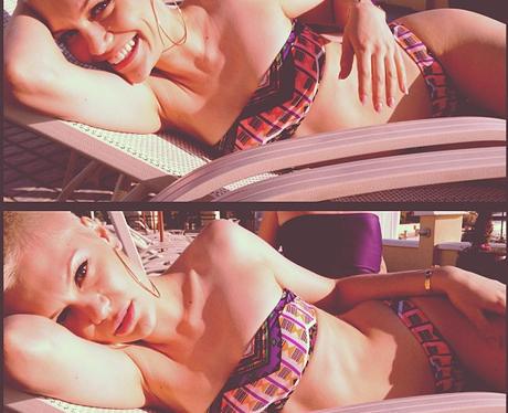 Jessie J posing in a bikini in Malta