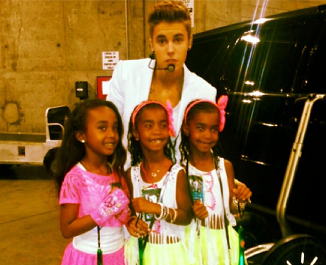 Justin Bieber with P Diddy's children