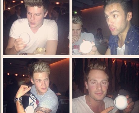 Lawson share a snap of them out eating together