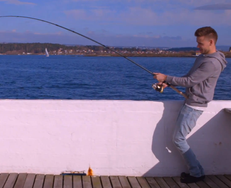 One Direction's Liam Payne with his fishing rod in This Is Us Trailer