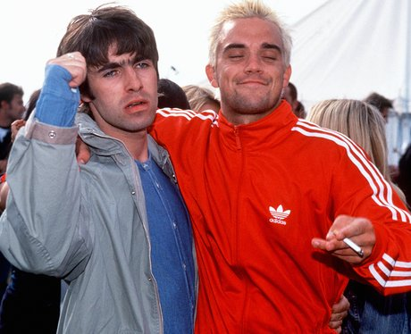 Robbie Williams and Liam Gallagher before their big fight