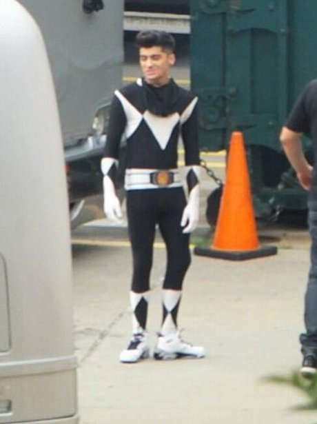 Zayn Malik dressed up in a Power Ranger outfit