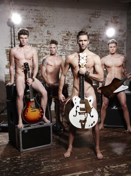 Lawson naked with guitars in Cosmopolitan magazine