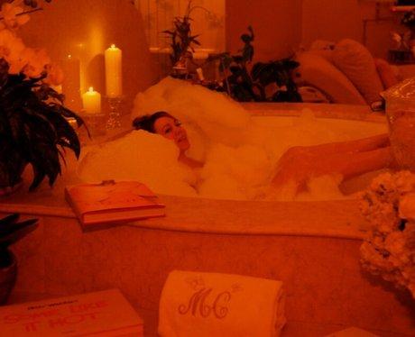 Mariah Carey in the bath