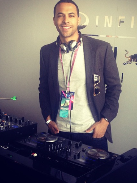Marvin Humes dj-ing