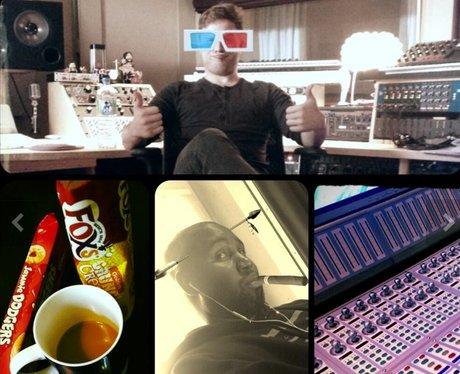 Olly Murs in the studio twitter