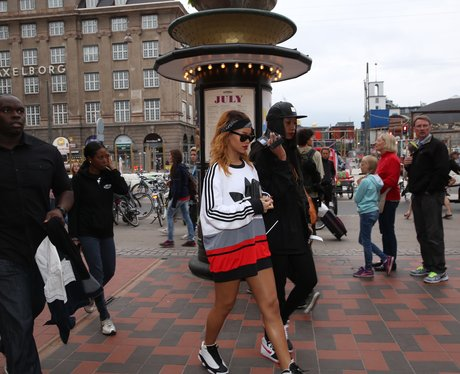 Rihanna at Tivoli Amusement park