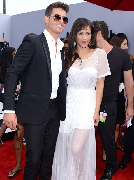 Robin Thicke and Paula Patton BET Awards 2013