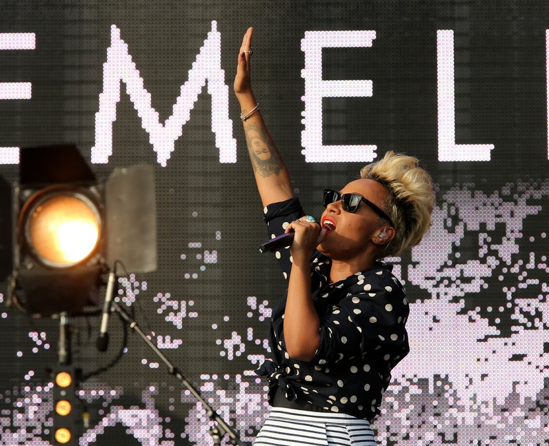 Emeli Sande on stage at T in the park 2013
